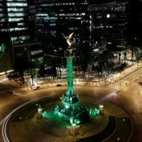 The Greening of the Angel de Independencia for St. Patrick's Day 2018
