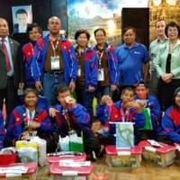 Reception with Cambodian delegates for Special Olympics - June 2015