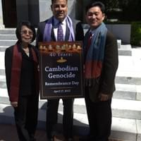 (L-R) Chan Hopson of KPA, Senator Ricardo Lara, and Kimthai Kuoch of CAA - April 2015