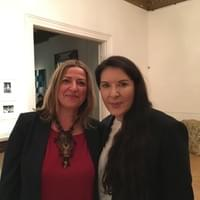 With Marina Abramovic