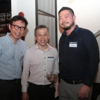 Yoong Hui Chia and Chris Chea at AAS Alumni Networking Event 2016