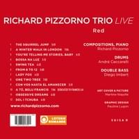 Graphisme du CD Live de Richard Pizzorno Trio. Art work couv: Martine Niquille
