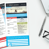 Bulletin Design + Layout