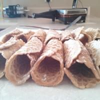 Pizzelle cannoli shells