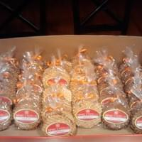 Half dozen pizzelle from the Fall line-up (Creamy Hazelnut, Pumpkin Pie and Maple Walnut)