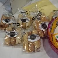 Roll-up pizzelles and biscotti as a birthday party favor