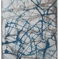 "Gray and Blue Wandering | 15.75 "" x  12"" 