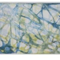 "Blue Green Ghost Weave | 5 "" x  10"" 