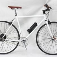 very light e bike, cross bike white
