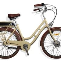 retro e-bike, rattan front basket, nexus 3/7/8
