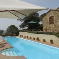 Il Castelletto on the pool