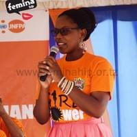 Angel speaking at UNFPA International Girls Day