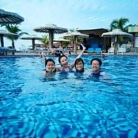 Swimming in Batam, Indonesia