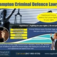 Good Brampton Criminal Defence Lawyer is to represent their client At http://saggilawfirm.com/  Find Us: https://goo.gl/maps/vGDMHa1w6r32  Deals in .....  Criminal Defense Lawyer In Mississauga Brampton Local Criminal Lawyer Legal Aid Criminal Lawyer Brampton Mississauga Local Criminal Lawyer Lawyer In Brampton Free Consultation  Anyone who is facing charges of a serious criminal offense is advised to hire an experienced Brampton Criminal Defence Lawyer as soon as they are arrested. You need to seek legal advice before you talk to the police or you could risk seriously compromising your defense case later on. However, you need to make sure you hire a lawyer who is experienced with the type of charges you are facing to give you the best chance in court.  Mandeep Saggi attends Court in all of the cities below. Saggi Law Firm is located At 2250 Bovaird Drive E., Suite #206 Brampton, ON, L6R 0W3  Available 24 hrs CALL: 647-983-6720  Social---  http://www.pearltrees.com/bestcriminallawyernearme#l676 https://www.pinterest.com/BramptonLawyers/ http://www.facecool.com/profile/BramptonCriminalLawyer https://plus.google.com/109135202348985479465