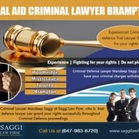 Legal Aid Criminal Lawyer Brampton Can Be Your Guide At https://saggilawfirm.com/location/  Find Us: https://goo.gl/maps/vGDMHa1w6r32  Deals in .....  Criminal Defense Lawyer In Mississauga Brampton Local Criminal Lawyer Legal Aid Criminal Lawyer Brampton Mississauga Local Criminal Lawyer Lawyer In Brampton Free Consultation  An excellent lawyer will certainly function to protect your interests as well as legal rights also keeping you as much as day and also informed on just how your case is progressing. They should also educate you from the outset concerning the nature of the costs versus you, potential fines if convicted and any type of more influence these charges may have in the future. Hiring a criminal Lawyer In Mississauga will certainly guarantee your instance is taken care of at every step.  Mandeep Saggi attends Court in all of the cities below. Saggi Law Firm is located At 2250 Bovaird Drive E., Suite #206 Brampton, ON, L6R 0W3  Available 24 hrs CALL: 647-983-6720  Social---  https://twitter.com/BramptonLawyers https://www.scoop.it/u/mandeep-saggi https://www.plurk.com/saggilawfirm https://www.facebook.com/saggilawfirm