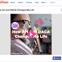 Sara's Story on BuzzFeed's Front Page