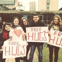 My awesome friends gave me what I wanted for my bday which was of course smtg different; a free hugs campaign in the middle of Manchester. Looooved it and had loads of fun.