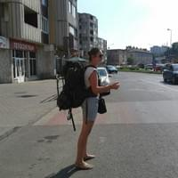Here I hitchhiked with a girlfriend for the first time in Romania. We stopped and visited 3 cities and did around 400 km on our route.