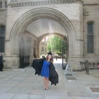 Graduation day - 3 years spent at Manchester University studying business management.