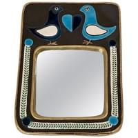 Ceramic Mirror by Mithé Espelt, France, circa 1970