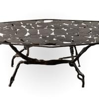 Wrought Iron Coffee Table by Nicolas Thevenin