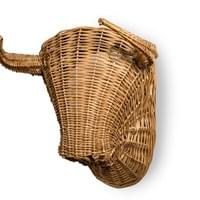 Large Wicker Bull's Head