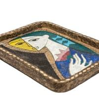 Ceramic tray by Mari Simmulson (1911-2000)