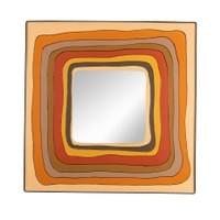 Square lacquered resin mirror