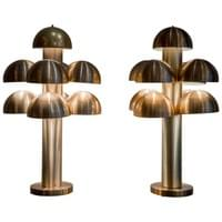 Pair of « Cantharelle » table lamps