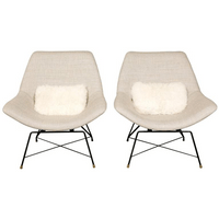 Pair of Kosmos lounge chairs, Augusto Bozz