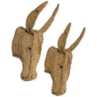 "Pair of donkey heads in ""halfa"""