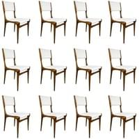 Set of 12 Carlo di Carli walnut chairs, for Cassina, Italy, circa 1950.