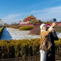 Selfies at Tianamen Square: Beijing, China