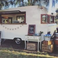 Another beautiful wedding set up with Charlie & Collette Vintage Caravan Bar