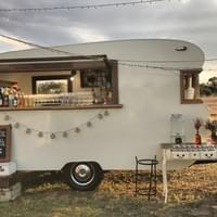 Wedding time with Charlie & Collette Vintage Caravan Bar