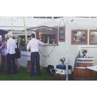 Charlie & Collette Vintage Caravan Bar at a Christmas Party