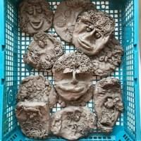 Year 5 & 6 clay faces 2017
