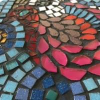 Fancy Hen Trivet. Mixed media mosaic. £30.00