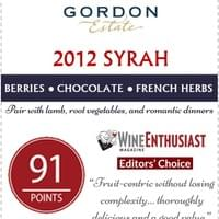 Shelf Talker for 2012 GE Syrah - Point of Sale for retail shelves