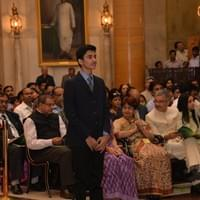 At the Durbar Hall of the Rashtrapathi Bhavan
