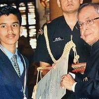 Receiving the National Award from the President