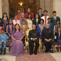 Group Photo with the President at the Rashtrapathi Bhavan