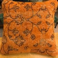Orange Dyed Wool Pillow