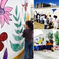 Wall painting with marocco school