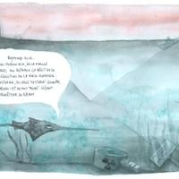"""Blue Age"" text & illustrations, graphic novel at Buchet/Chastel publisher"
