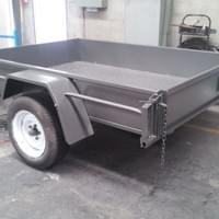 JMC Sandblasted - then powdercoated trailer refinishing