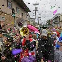 New Orleans brass band parade