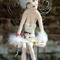 SOLD.   Holly. (Elderly Christmas fairy) 53cms tall. SOLD