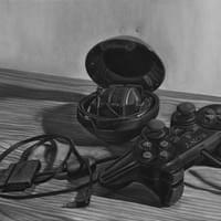 Still Life with PS2 Controller