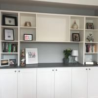 Office storage and shelf unit.
